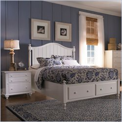 Broyhill Hayden Place Panel Storage Bed 2 Pc Bedroom Set in White