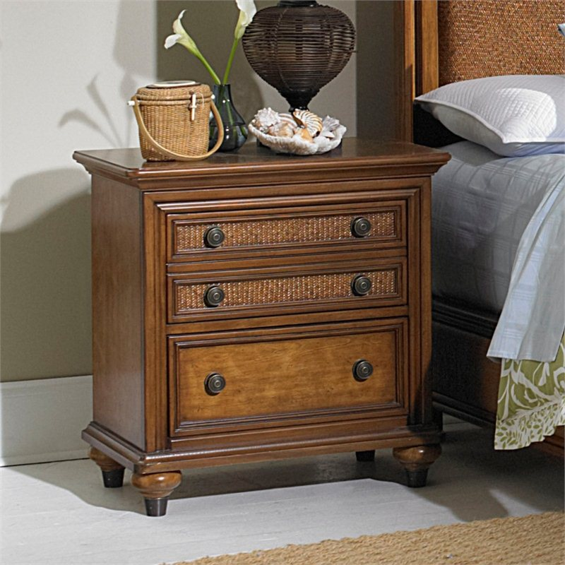 Broyhill Samana Cove 2 Drawer Night Stand in Natural Amber