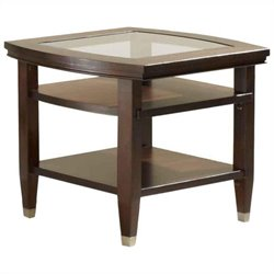 Broyhill Northern Lights End Table in Dark Walnut