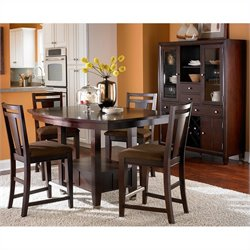 Broyhill Northern Lights 5 Piece Dining Table Set in Dark Walnut
