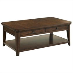 Broyhill Estes Park Storage Cocktail Table in Artisan Oak