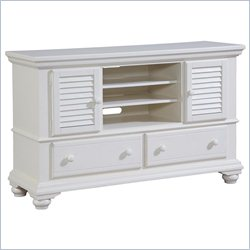 Broyhill Seabrooke Entertainment Console in Creamy White