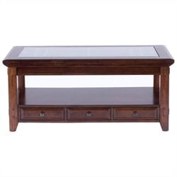 Broyhill Vantana Rectangular Cocktail Table in Golden Brown