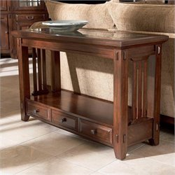 Broyhill Vantana Sofa Table in Golden Brown