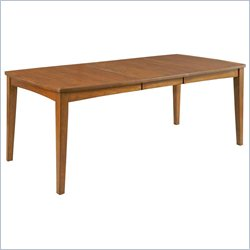 Broyhill Mardella Leg Dining Table in Warm Cognac