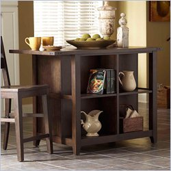 Broyhill Attic Retreat Kitchen Island in Rustic Weathered-mink