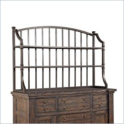 Broyhill Attic Retreat Metal Server Hutch in Weathered-mink