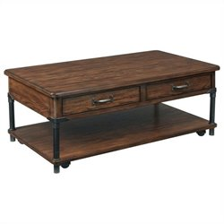Broyhill Saluda Rectangular Cocktail Table in Warm Oak