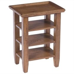 Broyhill Attic Heirlooms Accessory Table in Rustic Oak