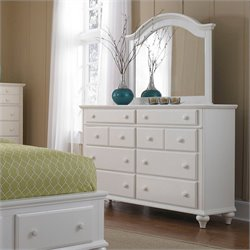 Broyhill Hayden Place Dresser and Arched Mirror in White