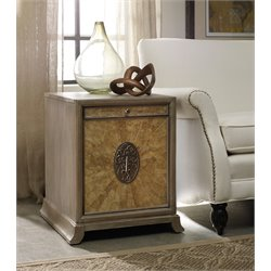 Hooker Melange Ari 1 Drawer End Table in Light Wood