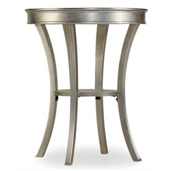 Hooker Melange Semblance 1 Shelf End Table in Silver