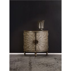 Hooker Melange Tatum Demilune Accent Chest in Medium Wood