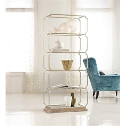 Hooker Melange Carter Metal 5 Shelf Bookcase
