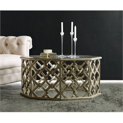 Hooker Furniture Melange Nico Coffee Table in Silver