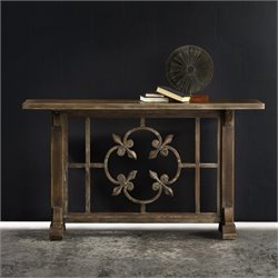 Hooker Melange Cora Console Table in Medium Wood