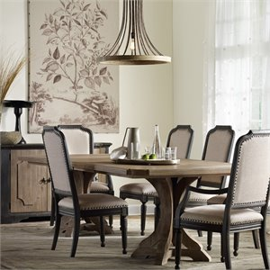 Hooker Corsica Extendable Pedestal Dining Table