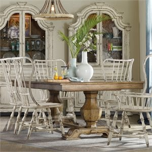 Hooker Furniture Sanctuary Extendable Trestle Dining Table in Medium Wood