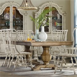 Hooker Sanctuary Extendable Trestle Dining Table in Medium Wood