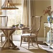 Hooker Furniture Sanctuary Tall Spindle Dining Arm Chair in Medium Wood