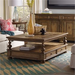 Hooker Furniture Sanctuary Coffee Table in Medium Wood