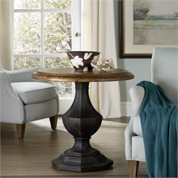 Hooker Furniture Sanctuary Round Pedestal Table in Black