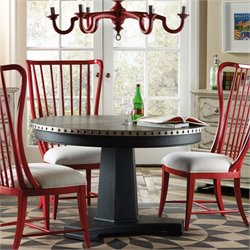 Hooker Sanctuary Round Aluminum Dining Table in Black