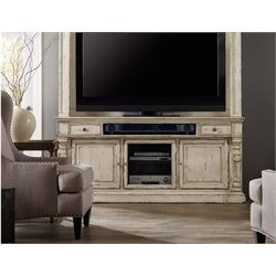 Hooker Sanctuary TV Stand in Chalky White