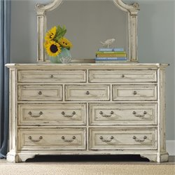 Hooker Sanctuary 9 Drawer Dresser in Chalky White