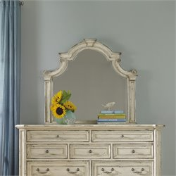 Hooker Sanctuary Shaped Mirror in Chalky White
