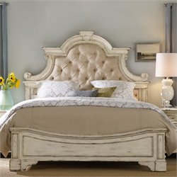 Hooker Sanctuary Queen Upholstered Bed in Chalky White