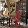 Hooker Sanctuary Tall Spindle Dining Arm Chair in Red