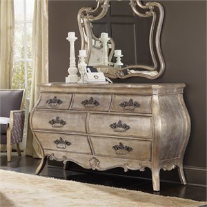 Hooker Furniture Sanctuary 7 Drawer Dresser in Silver