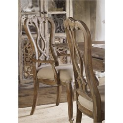 Hooker Chatelet Splatback Dining Arm Chair in Caramel Froth
