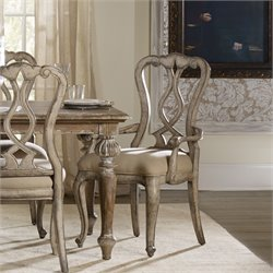 Hooker Chatelet Splatback Dining Arm Chair in Vintage White (Set of 2)