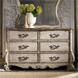 Hooker Furniture Chatelet 6 Drawer Dresser in Distressed Vintage White