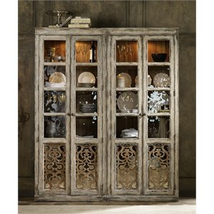 Hooker Furniture Chatelet 2 Door Bunching Curio Cabinet in Caramel Froth