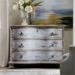 Hooker Furniture Chatelet 3 Drawer Accent Chest in Blue