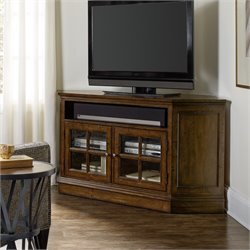Hooker Furniture Brantley 2 Door Corner TV Stand in Dark Wood