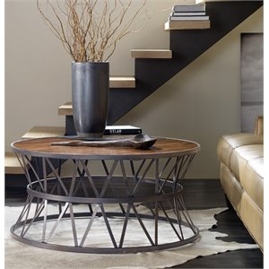 Hooker Furniture Chadwick Round Coffee Table in Brown