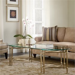 Hooker Furniture Highland Park Glass Top Coffee Table in Gold