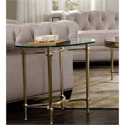 Hooker Furniture Highland Park Glass Top End Table in Gold