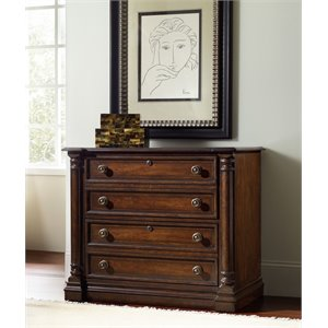 Hooker Furniture Leesburg 2 Drawer Lateral File Cabinet in Mahogany