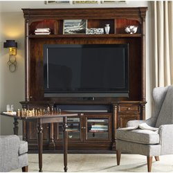 Hooker Furniture Leesburg 2 Piece Entertainment Center in Mahogany