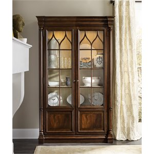 Hooker Furniture Leesburg Curio Cabinet in Mahogany