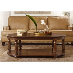 Hooker Furniture Leesburg Oval Coffee Table in Mahogany