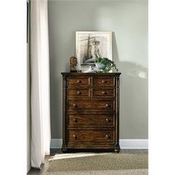 Hooker Furniture Leesburg 5 Drawer Chest in Mahogany