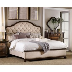 Hooker Leesburg Upholstered Bed in Mahogany