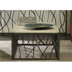 Hooker Furniture Metal Coffee Table in Cream