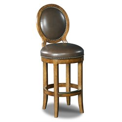 Hooker Mojito Oval Back Stool in Medium Wood